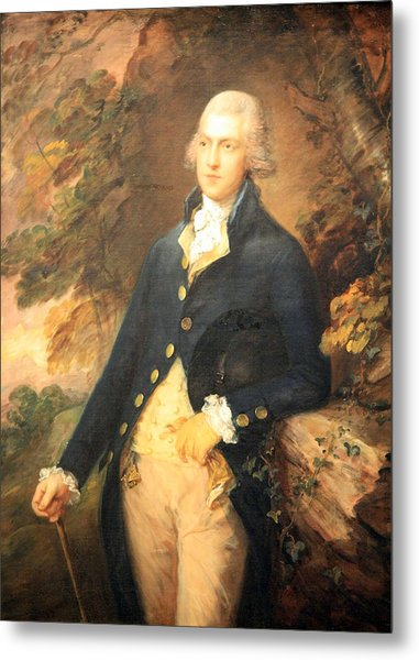 Gainsborough's Francis Bassat -- Lord De Dunstanville Metal Print