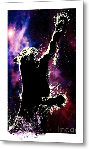 Galactic Tiger Metal Print