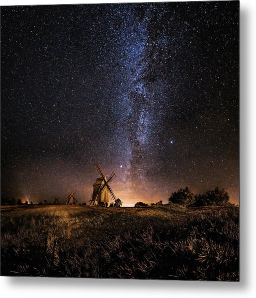 Galaxy Rising Metal Print by J?rgen Tannerstedt