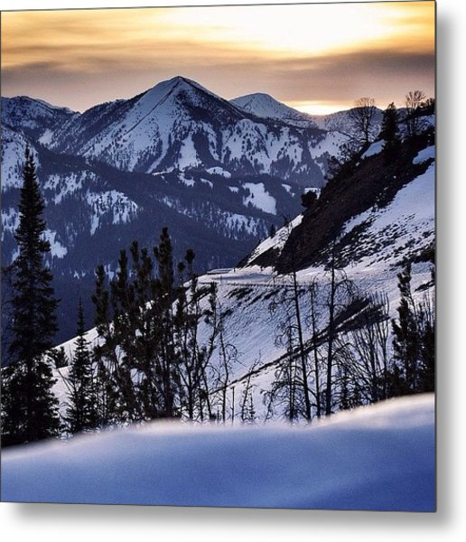 #galena #sunsets #idaho #mountains Metal Print