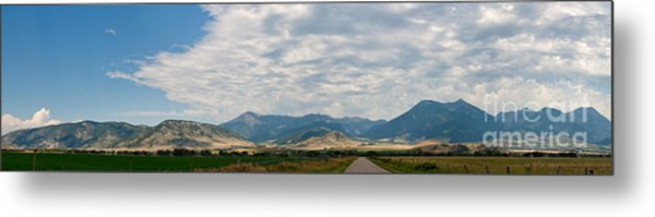 Gallatin Range Panoramic Metal Print