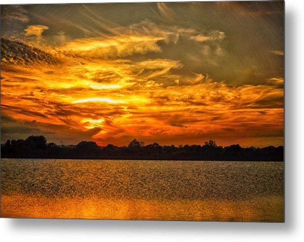 Galveston Island Sunset Dsc02805 Metal Print