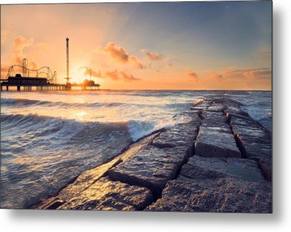Galveston Sunrise Metal Print