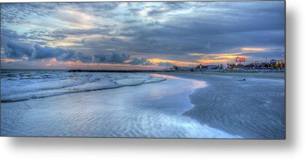Galveston Sunset Metal Print
