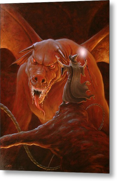 Gandalf Fighting The Balrog Metal Print