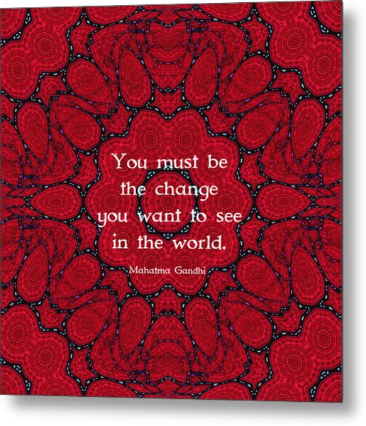 Gandhi Wisdom Quotation About Action Metal Print by Quintus Wolf