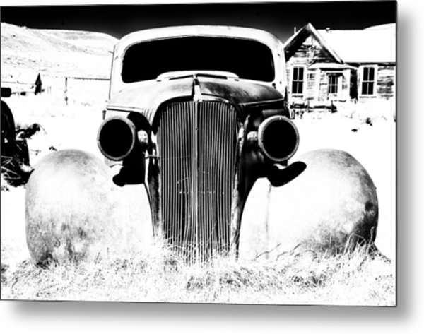 Gangster Car Metal Print