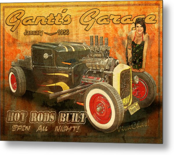 Gantt's Garage Open All Night Metal Print