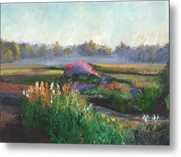 Garden At Sunrise Metal Print by William Killen