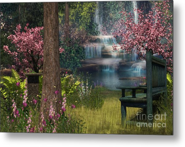 Garden Background Metal Print