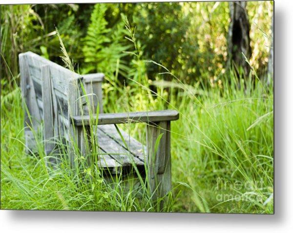 Garden Bench Metal Print
