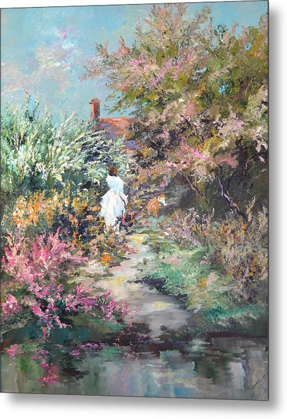 Garden By The Water Metal Print by Steven Nevada