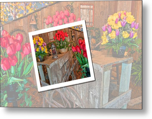 Garden Cart Out To Lunch Metal Print