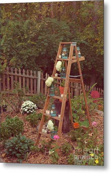 Garden Decorations Metal Print by Kay Pickens