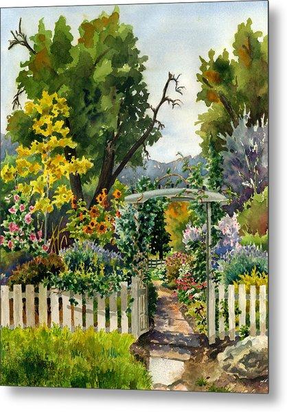 Garden Gate Metal Print by Anne Gifford