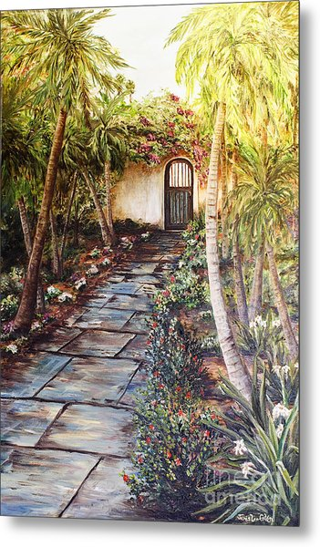 Garden Gate To Rosemary's Cottage Metal Print