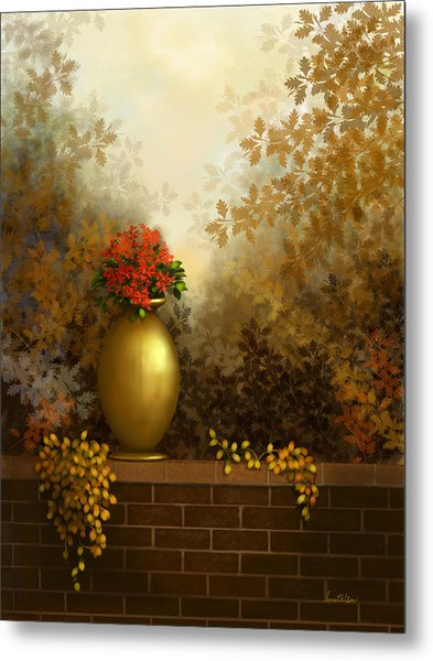 Garden Golds Metal Print