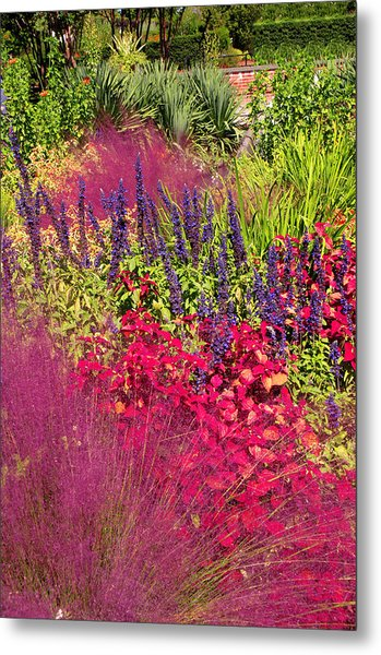 Garden In The Fall Metal Print
