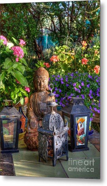 Garden Meditation Metal Print