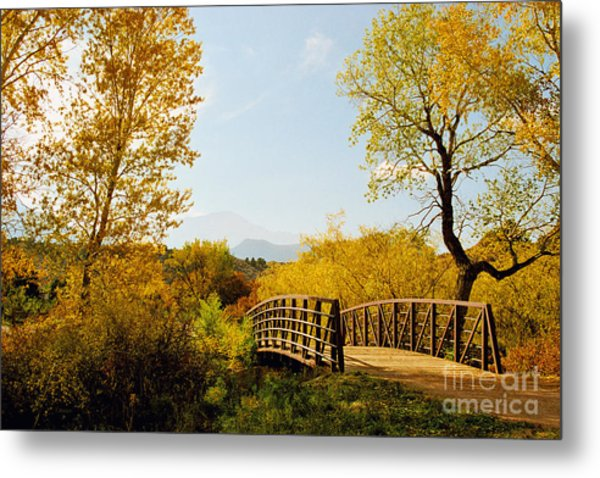 Garden Of The Gods Bridge Metal Print
