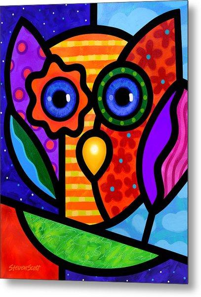Garden Owl Metal Print