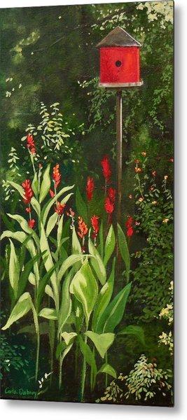 Garden Reds Metal Print by Carla Dabney