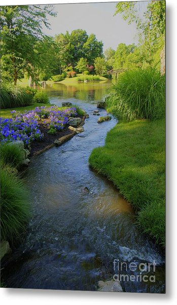 Garden Stream Hdr #9795 Metal Print