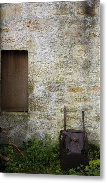 Garden Wall Dornoch Scotland Metal Print