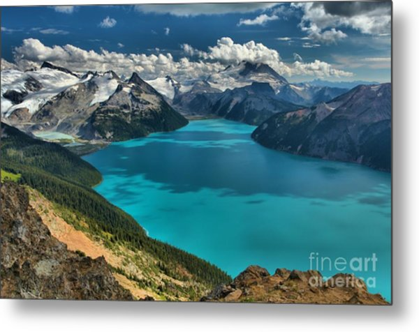 Garibaldi Lake Blues Greens And Mountains Metal Print