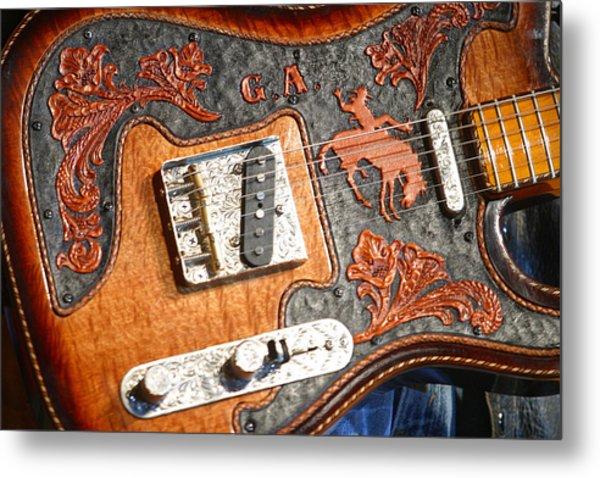 Gary Allan's Guitar Metal Print by Don Olea