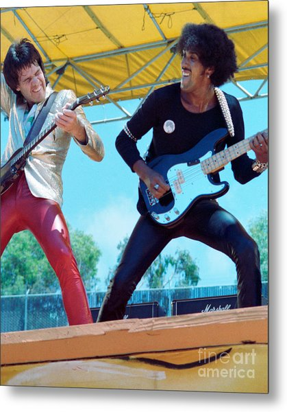 Gary Moore And Phil Lynott Of Thin Lizzy At Day On The Green 4th Of July 1979 - 1st Color Unreleased Metal Print