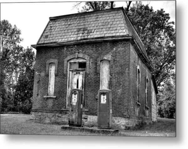 Gas At 41 Cents A Gallon Bw Metal Print