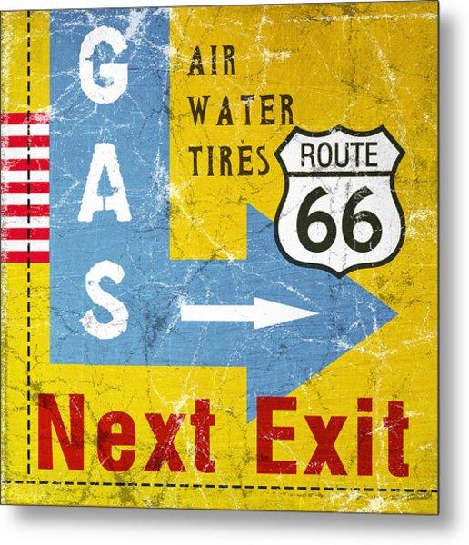 Gas Next Exit- Route 66 Metal Print