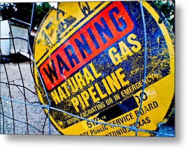 Gas Pipeline Metal Print