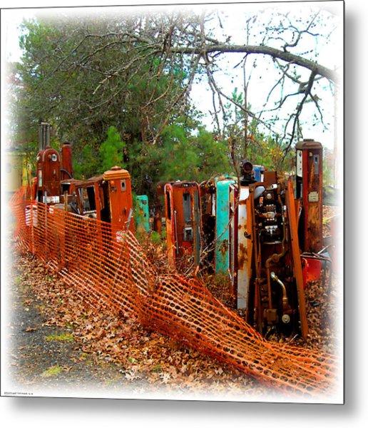 Gas Pump Gathering Metal Print