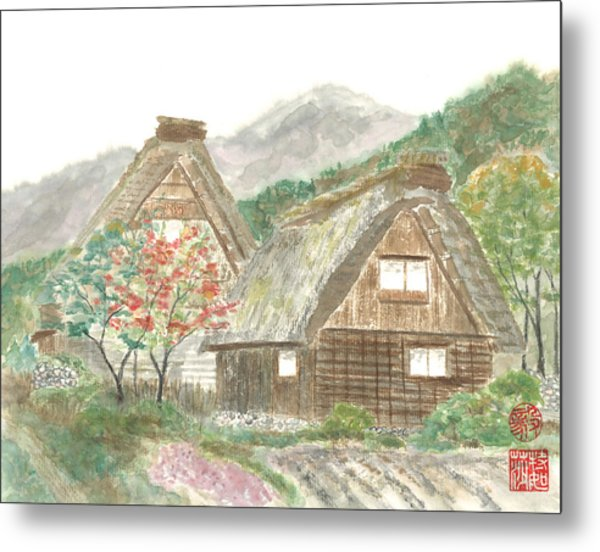 Gassho-zukuri Home Metal Print