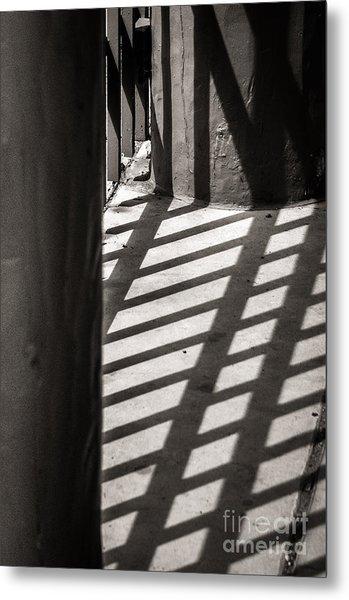 Gate Shadows II Metal Print