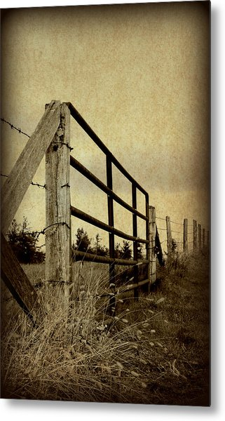 Gated Field Metal Print