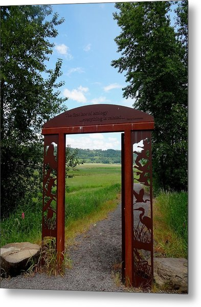 Gateway To The Trail Metal Print by Lizbeth Bostrom