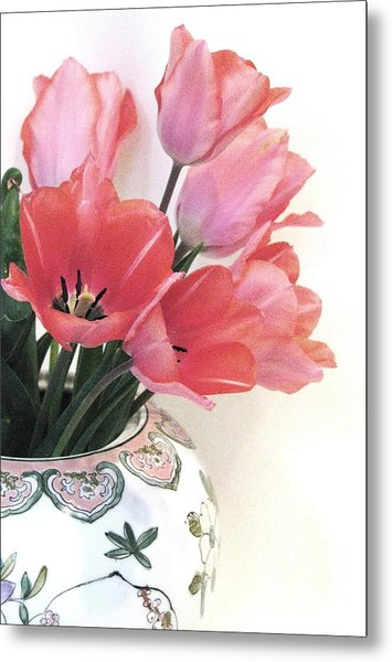 Gathered Tulips Metal Print