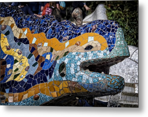 Gaudi Dragon Metal Print