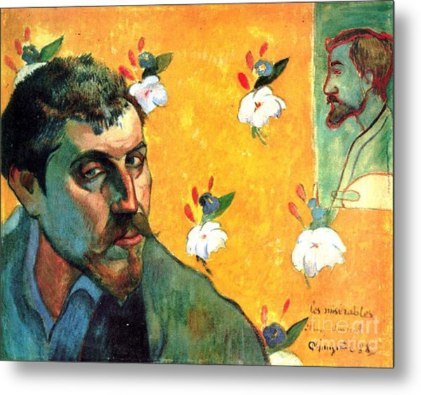 Gauguin Self Portrait - As Jean Valjean Metal Print by Pg Reproductions