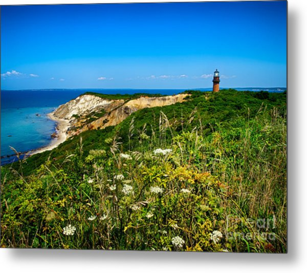 Gay Head Light And Cliffs Metal Print