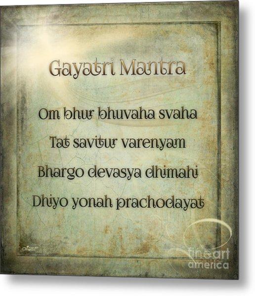 Gayatri Mantra Metal Print