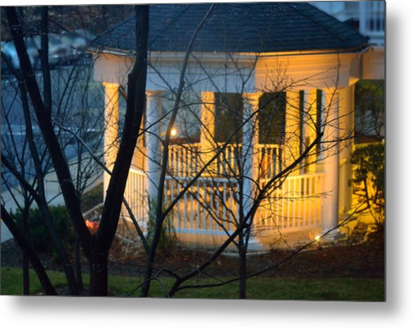 Gazebo After Dark Metal Print