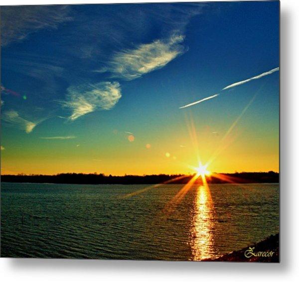 Gc Lake Sunrise Metal Print