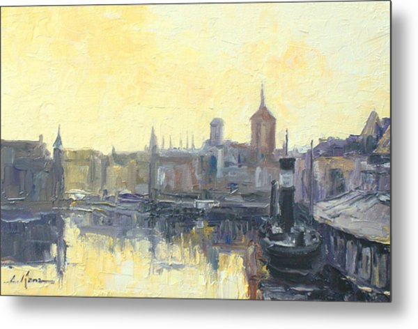 Gdansk Harbour - Poland Metal Print