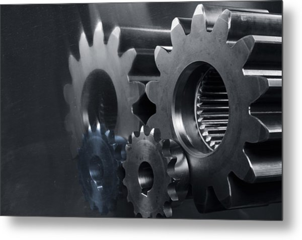 Gears And Power Metal Print