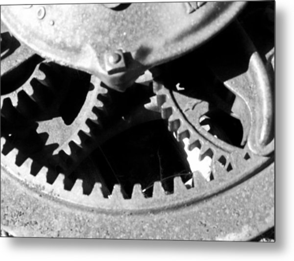 Gears Light Metal Print