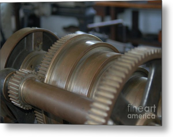 Gears Of Progress Metal Print
